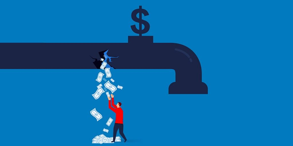 faucet is leaking with cash because company is cutting way to profitability with their revenue strategy