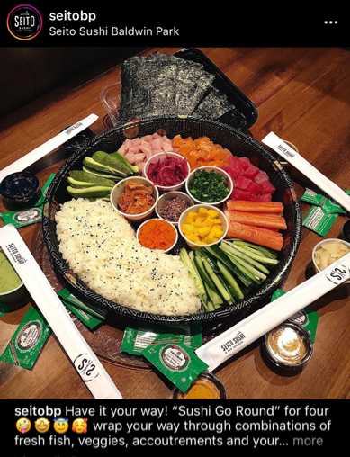 seito sushi is a great example of product innovation to help restaurants with marketing during coronavirus