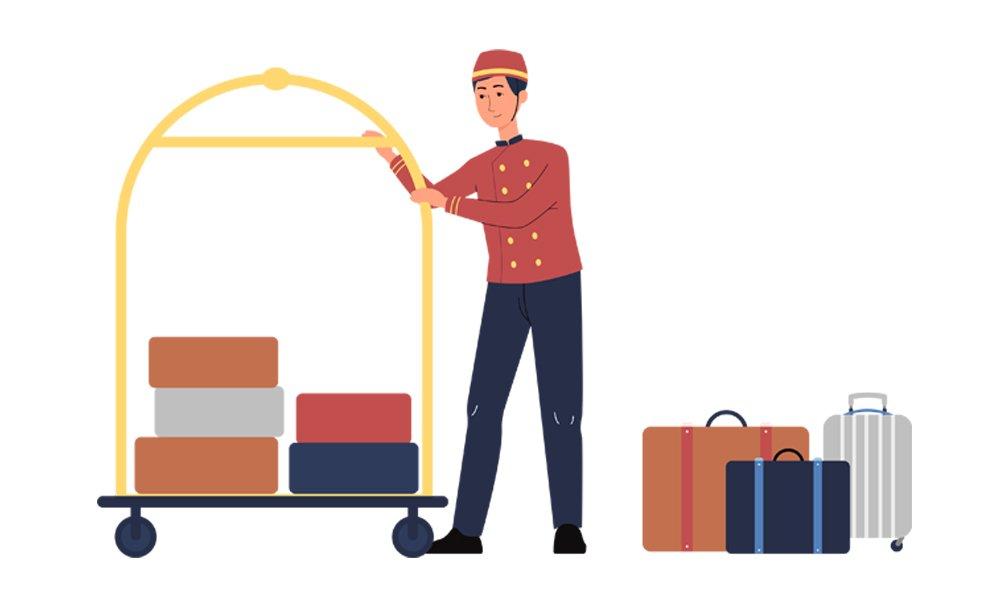 hotel luggage concierge